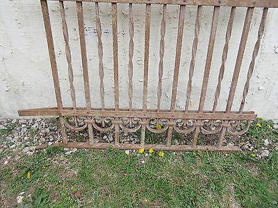 Antique Victorian Iron Gate Window Garden Fence Architectural Salvage Door #304 4