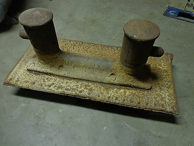 """Antique Boat Deck Steel Bitt Ties 8"""" Diameter / 57"""" x 25"""" x 21"""" 914 lbs 3"""