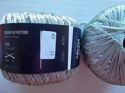 Filati Europa Linguine ribbon yarn lot of 2, 91 yds each Denim