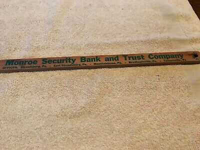 Monroe Security Bank Vintage Advertising Fly Swatter, Stroudsburg, Pa. 2