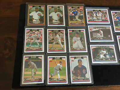 2006 Topps Lot of 27 Chicago Cubs: Maddux, Barrett, GOLD Serial, Rich Hill RC 2