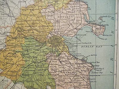 IRISH MAP COUNTY DUBLIN Ireland Skerries y Lucan Colored PW Joyce 1905 on map of tn, map of oh, map of panama, map of wi, map of philadelphia, map of new york, map of colonial pennsylvania, map of az, map of ia, map of mn, map of wv, map usa, map of pennsylvania with cities, google maps pa, map of ms, map of il, county map pa, map of ohio, map of harrisburg pennsylvania, map of western pennsylvania,