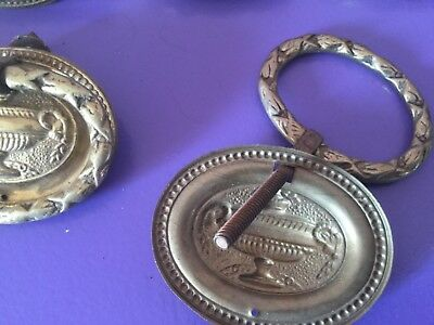 Good Vintage Set Brass Drawer Handles X 14. 4