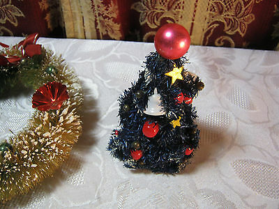 2 of 5 christmas wreath and small christmas tree decoration vintage - Small Christmas Wreaths