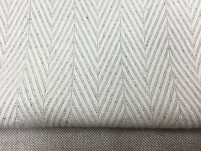 Alcantara Herringbone  Oatmeal Cream Linen 150cm wide Curtain//Upholstery Fabric