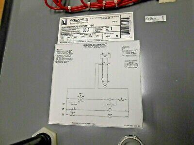 1 Nuovo Square D 8538SBG Dimensione 0 1PH Combinazione Avviatore Monofase 120V 6