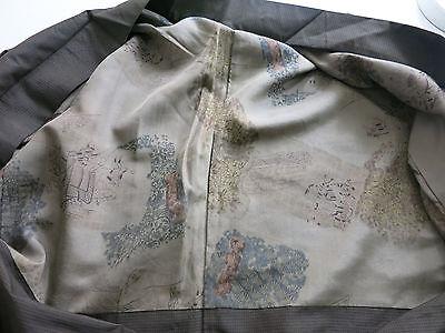Kimono Tsumugi Haori Herren Seide aus Japan Showa handgenäht 4