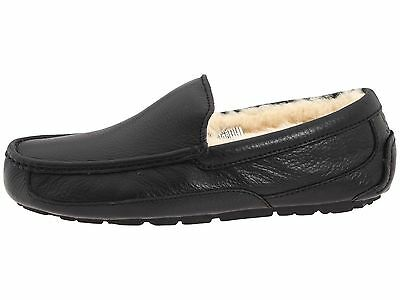 af0ff96eeb8 AUTHENTIC UGG MEN'S Ascot Black Leather Slippers - 5379B Winter Slipper  *NEW*