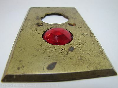 Antique Architectural Red Jeweled Glass Electrical Switch Cover Outlet Hardware 11