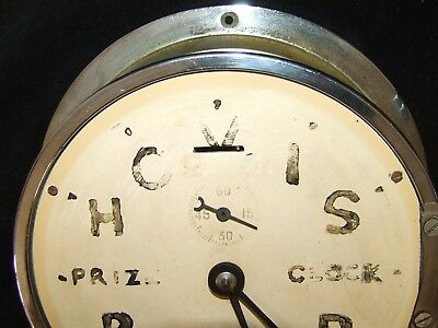 Ship Style Chrome HOVIS BREAD PRIZE CLOCK Advertising Clock BRAVINGTONS LONDON 11