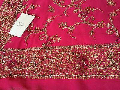 Saree- Bollywood Fashion Wedding Party Wear Heavy Designer Sari Indian Asian 11