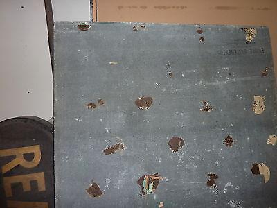 """antique ORIGINAL circa 1920's schoolhouse MASONITE chalkboard 60"""" x 42 UTICA, NY 8"""