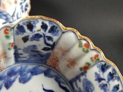 Set Four Antique Japanese Imari Scalloped Rim Bowls Four Character Marks 19th C 7