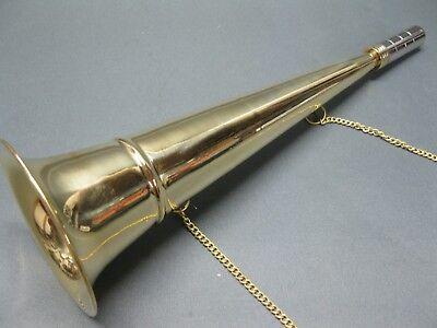 Messing Stethoskop Hörrohr Hearing Pipe Hörmaschine Ear Trumpet 33 cm mit Kette 7