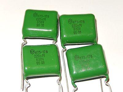 Lot of 20 NOS. 2.2uF  10/% 63V PETP Capacitors K73-17