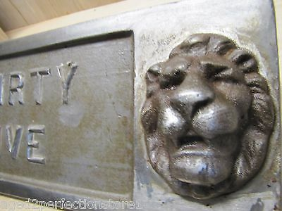 Old Double Lions Head Architectural Building Number 'Thirty Five' Marker Sign 11