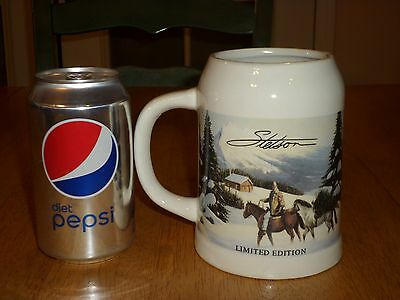 Stetson limited edition cowboy horse beer stein mug $20. 00.