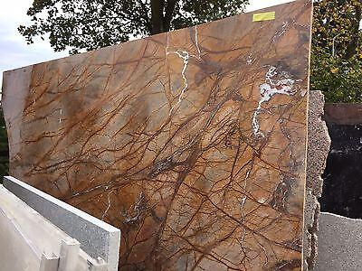 tischplatte in marmor naturstein rainforest brown f r couchtisch beistelltisch eur 289 99. Black Bedroom Furniture Sets. Home Design Ideas