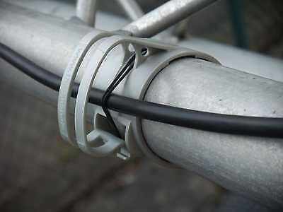 Gummiring 10x SNAP Schwarz Kabel Halter Klammer Schelle für Traversen Rohr incl