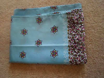 1 NEW Colourful Mixed Fibre Ladies Scarf BLUE & SNOWFLAKE DETAIL ~ Gift Idea #66 3