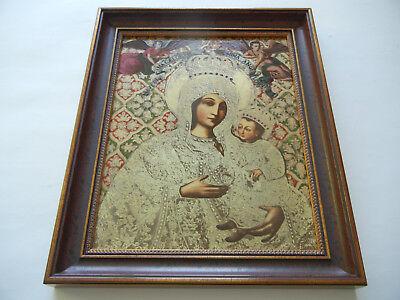 Heinrich Icono Del Año 1984 Madre de Dios Von Gietrzwald + Certificado N º 681+ 3