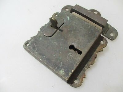 "Georgian Brass Door Lock Keep Antique Victorian Old Sri Lanka Colonial ""Galle"" 3"