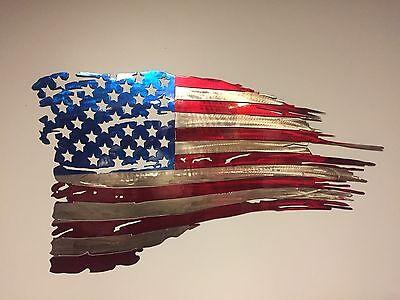Texas Flag Usa Plasma Cut Metal Wall Art Hanging Home Decor America