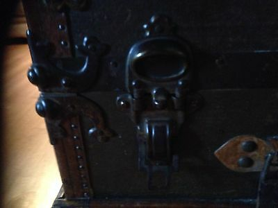 Antique Vintage Ships Trunk 19th Century, Collectable S S Friesland Ship 5