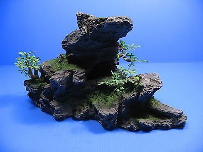 Montagne Aquarium Ornement arbre - Rock Cave pierre HIDE 11