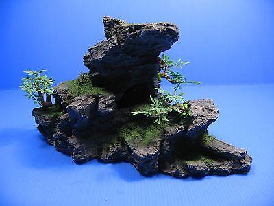 Montagne Aquarium Ornement arbre - Rock Cave pierre HIDE 11