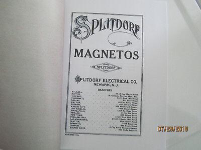 1914 Splitdorf  Model EU-4  Magneto Instructions/Operating Manual 2