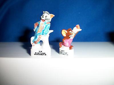TOM Wearing SCOTTISH KILT Mini Figurine FRENCH PORCELAIN FEVES Mini Figure Jerry