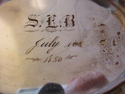 Antique 1850 Brides Basket Silver Plate On Copper 7