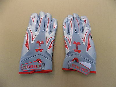 NEW Texas Tech Game Issued Under Armour Football Receiver Sticky Gloves// XXL