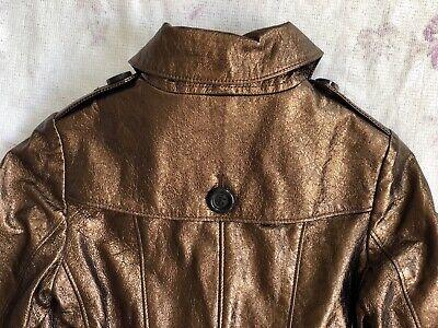BURBERRY Children Mädchen Jacke Leder Gr.122 6-7 years girls leather jacket belt 8