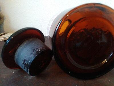 Apothekerflasche;Theophyllin.; 1 ltr.;braunglas;geschl. Stöpsel;Loft;Deco 3