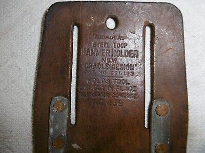 """alter Hammer Holder Leder NEW """"CRADLE DESIGN"""" PAT N° USA"""