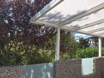 Terrassendach Alu Sonnenschutz-Stegplatten klar Terrassenüberdachung 6 m breit 8