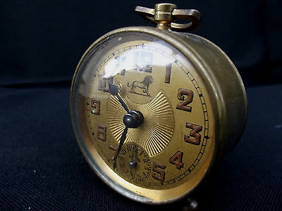 Duverdrey & Bloquel BAYARD clock alarm desk  Art Deco design 1930's 6 cm x 6 cm 2