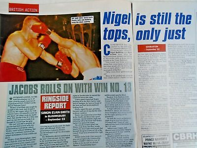 BOXING NEWS - 2nd oct 1998 - herbie, paul, lewis holyfield, naz free p&p to uk 6