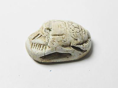 Zurqieh -Af303- Ancient Egypt , New Kingdom Stone Scarab. 1400 B.c 3