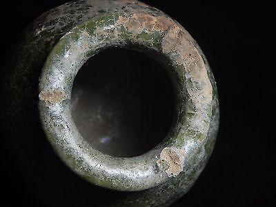 Zurqieh - Holy Land. 1500 B.c Glazed Terracotta Vessel. Very Rare! 9