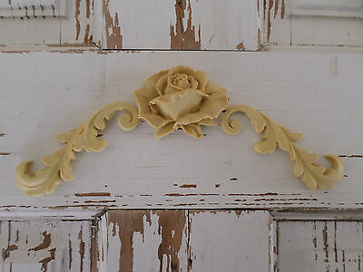 Rose Architectural Furniture Appliques Onlays Wood Resin