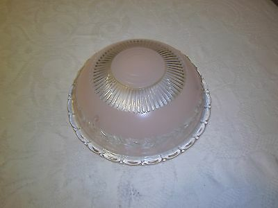 Antique light fixture glass shade Pink 3 hole mounted type 2