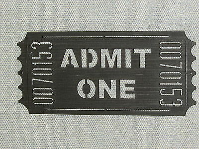 MOVIE THEATER TICKET Wood Wall Art Cinema Home Sign - $16.95 | PicClick