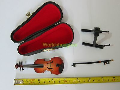 "1//6 Scale Violin with Case Hot Musical Instrument for 12/"" Action figure Toys"