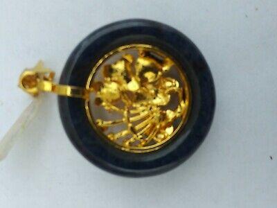 China  Jade with Various gemstones Pendant pair 玉坠 7