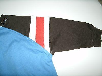 Oshkosh Boy's T-Shirt Long Sleeve Blue Brown Orange Size 3 Months New 10