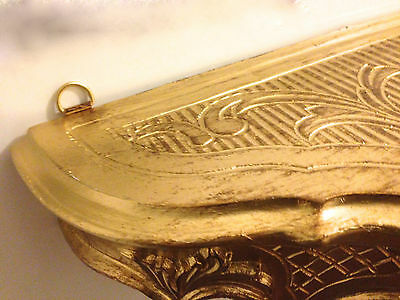 Wandkonsole Antik Wandregal 30X16X12 cm Badregale Barock antik GOLD  Wandablage