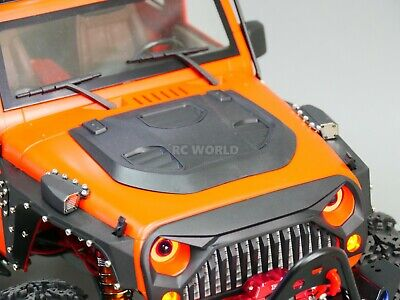 RC 1//10 Scale JEEP Body Shell BLACK HOOD SCOOP For  WRANGLER RUBICON Hard Body